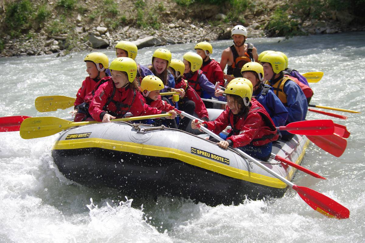 Wildwasser Rafting in Südtirol
