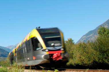 By train into the south Tyrol