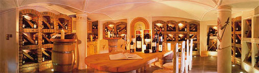 Wine cellar of the 4 Star Family Hotel Prokulus in South Tyrol