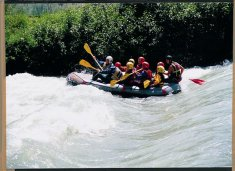 Action beim Rafting
